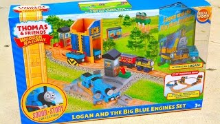 Thomas And Friends Logan And The Big Blue Engines Set - Wooden Railway Toy Train Review