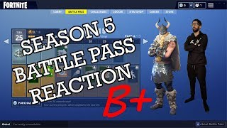 Fortnite Season 5 Battle Pass Reaction with RyanYags
