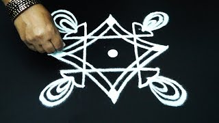 latest easy freehand rangoli designs * simple kolam with out dots * muggulu designs * rangavalli