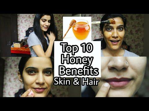 10 Honey Uses for Skin & Hair In Hindi  | Honey Benefits | Shiny hair/ Super Style Tips