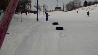 Горные лыжи. Обучение детей 6 лет 24.03.2018
