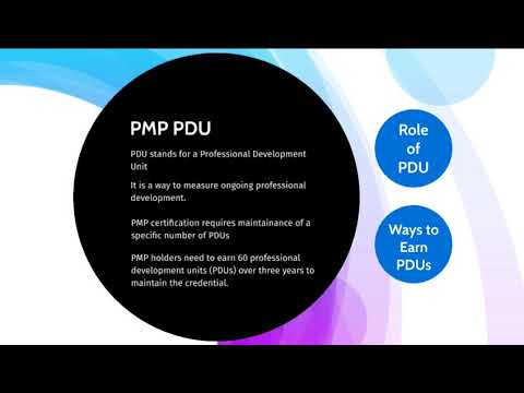 What are PDU- Professional Development Units in PMP?
