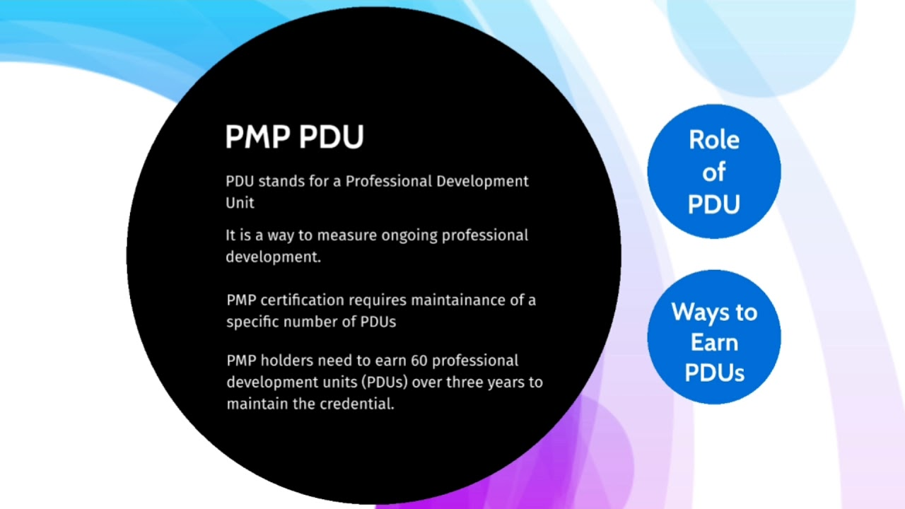What Are Pdu Professional Development Units In Pmp Youtube