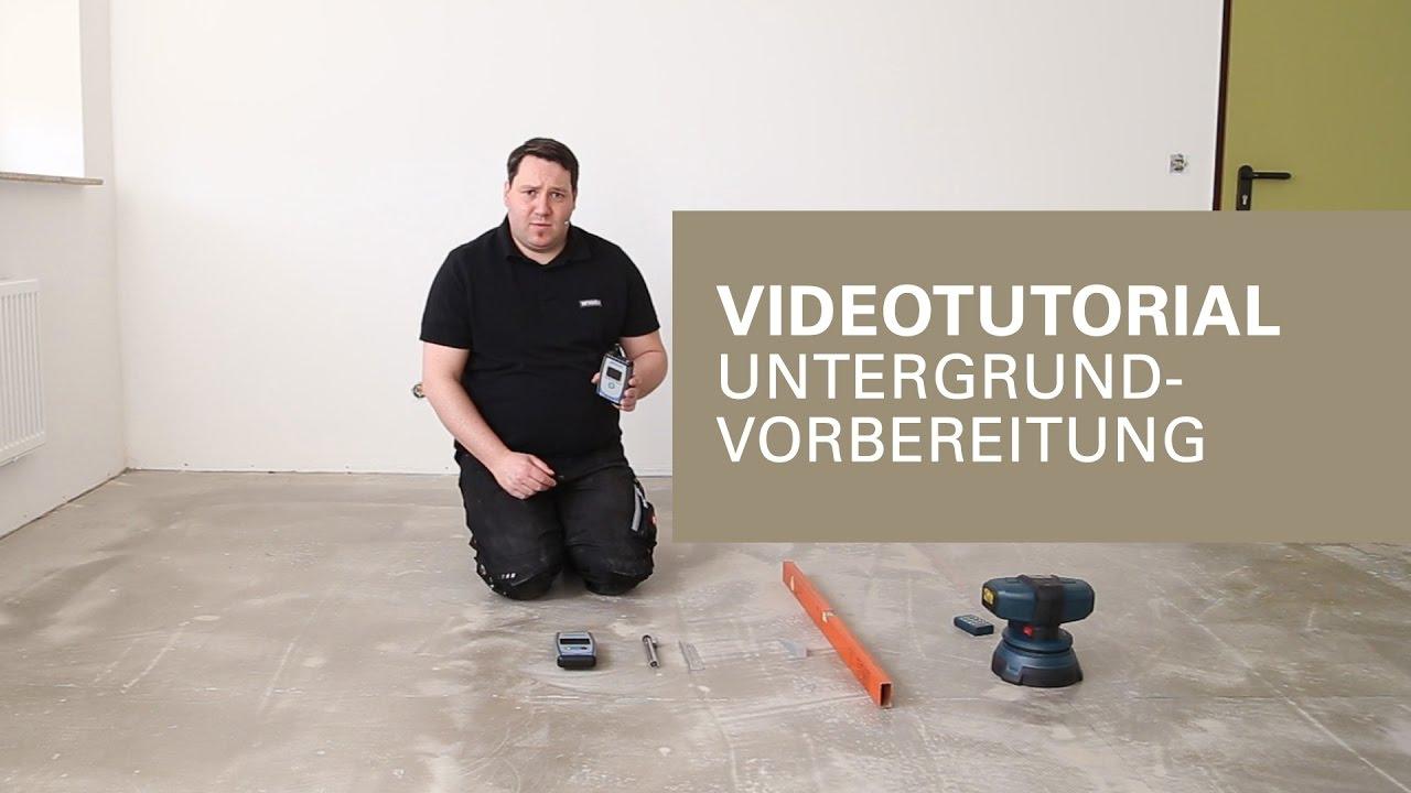 Komplett Neu Untergrundvorbereitung zur Bodenverlegung von Vinylboden  IA15