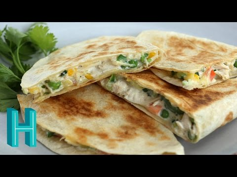 How to Make Chicken Pot Pie Quesadillas |  Hilah Cooking