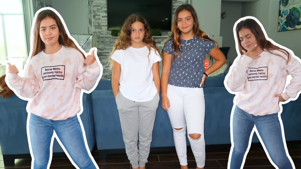 BACK TO SCHOOL OUTFIT SWITH UP CHALLENGE / MIDDLE SCHOOL EDITION  | SISTER FOREVER