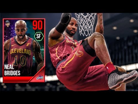 90 OVR BRIDGES THROWING SELF ALLEY-OOPS! NBA Live 18 The One Career Gameplay