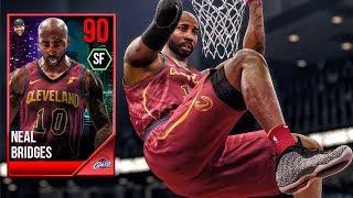 90 OVR BRIDGES THROWING SELF ALLEY-OOPS! NBA Live 18 The One Career Gameplay