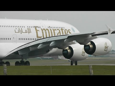 (1 HOUR) Planes at Birmingham Int'l Airport, BHX - Part 2 (Incl PIA+Emirates A380)