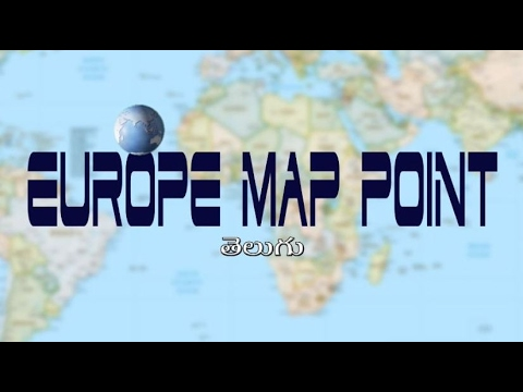 Europe Map Point | Easy Map point | Telugu