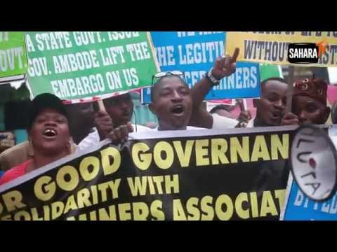 Protesters Ask Lagos Governor Ambode To Reverse Illegal Sacking Of Licensed Miners For His Loyalists