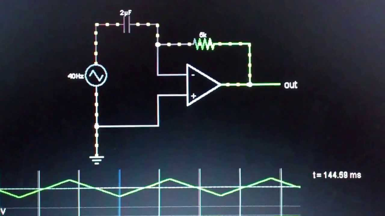 Animation Explains The Op Amp Differentiator Youtube Asymmetrical Inverting Schmitt Trigger Electronics Tutorial