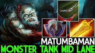 Matumbaman [Pudge] Monster Tanky Mid Lane WTF Game 7.21 Dota 2