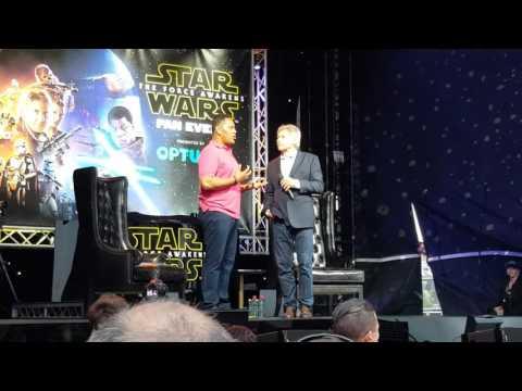 Star Wars Fan Event, Sydney. Jay Laga'aia interviews Harrison Ford.