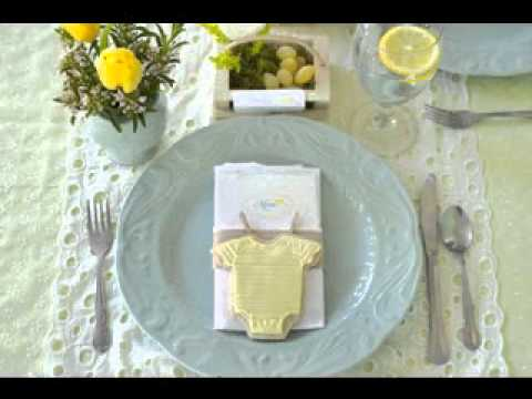 Simple baby shower table setting ideas youtube Baby shower table setting