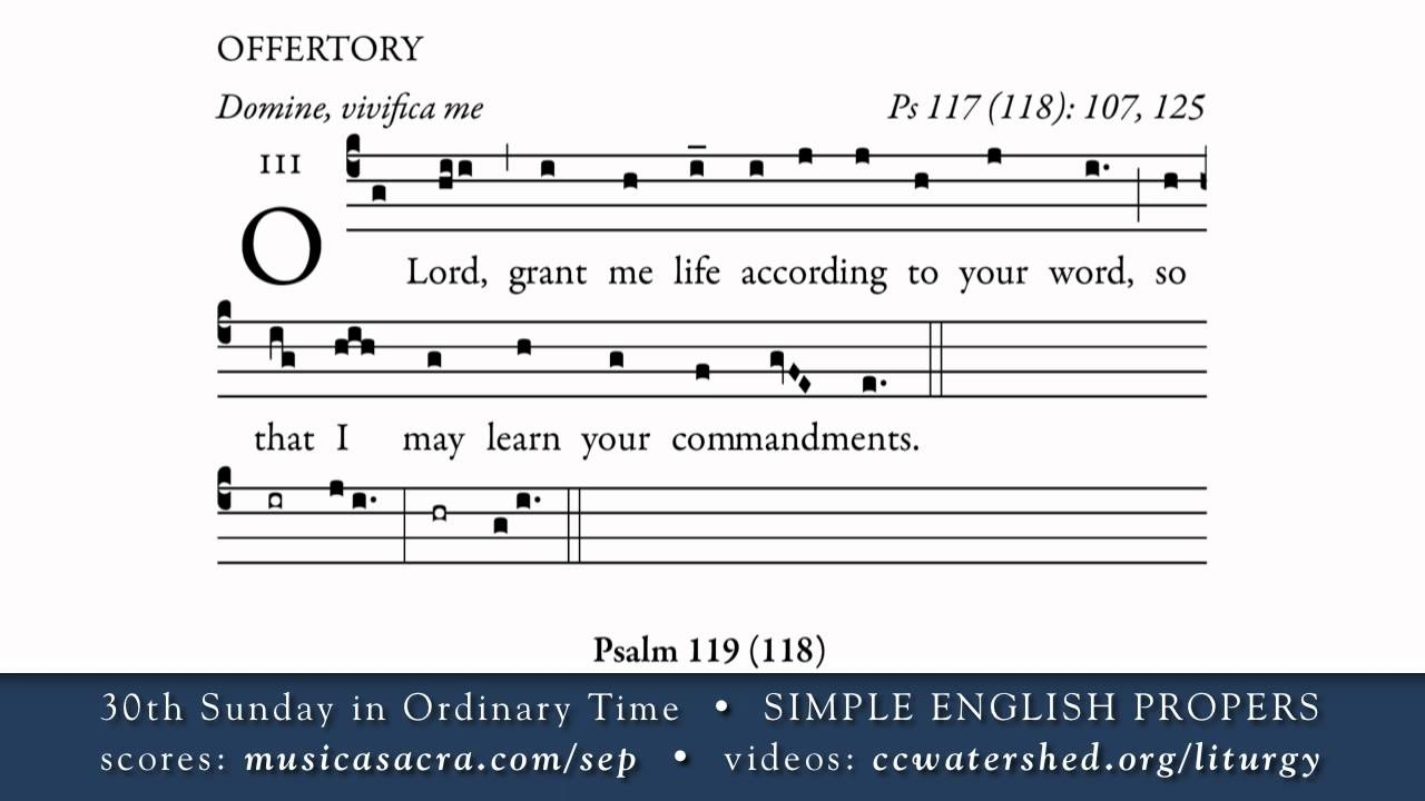 New Liturgical Movement: Simple English Propers, 30th Sunday