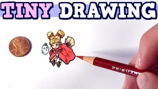 How Small Can You Draw? | Teeny Weeny ART CHALLENGE Ft. PaulaBlox