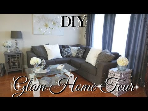 DOLLAR TREE DIY GLAM HOME TOUR 💎DIY FALL HOME TOUR 2017 💎 DIY GLAM ROOM DECOR