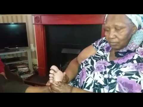 Reflexology lesson by Gogo Constance Yabantu UK vedio 1