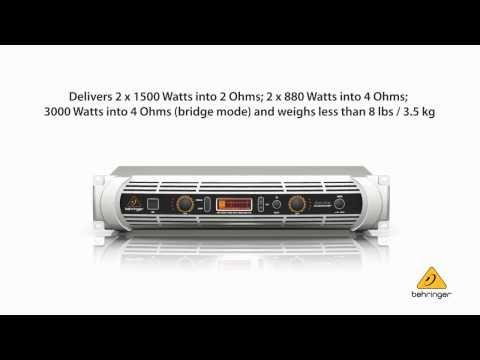 NU3000DSP INUKE AMPLI NUME DSP BEHRINGER video