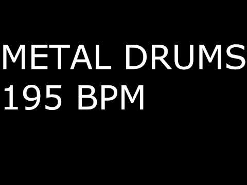 Metal Drums ONLY / 195BPM / DRUM BACKING TRACK