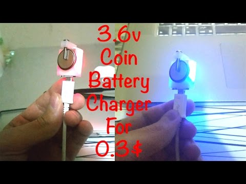 DIY Coin Cell Battery Charger For 0.3$ (For Rechargeable Batteries Only)