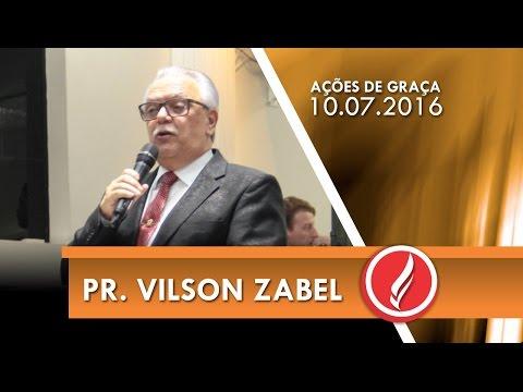Ações de graça - 1 ano Pr. Cirço na AD Içara - Pr. Vilson Zabel - 10 07 2016