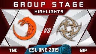 TNC vs NiP ESL One Hamburg 2019 Highlights Dota 2