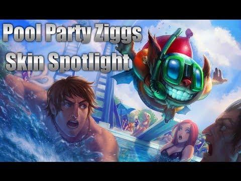 Pool Party Ziggs Skin Spotlight
