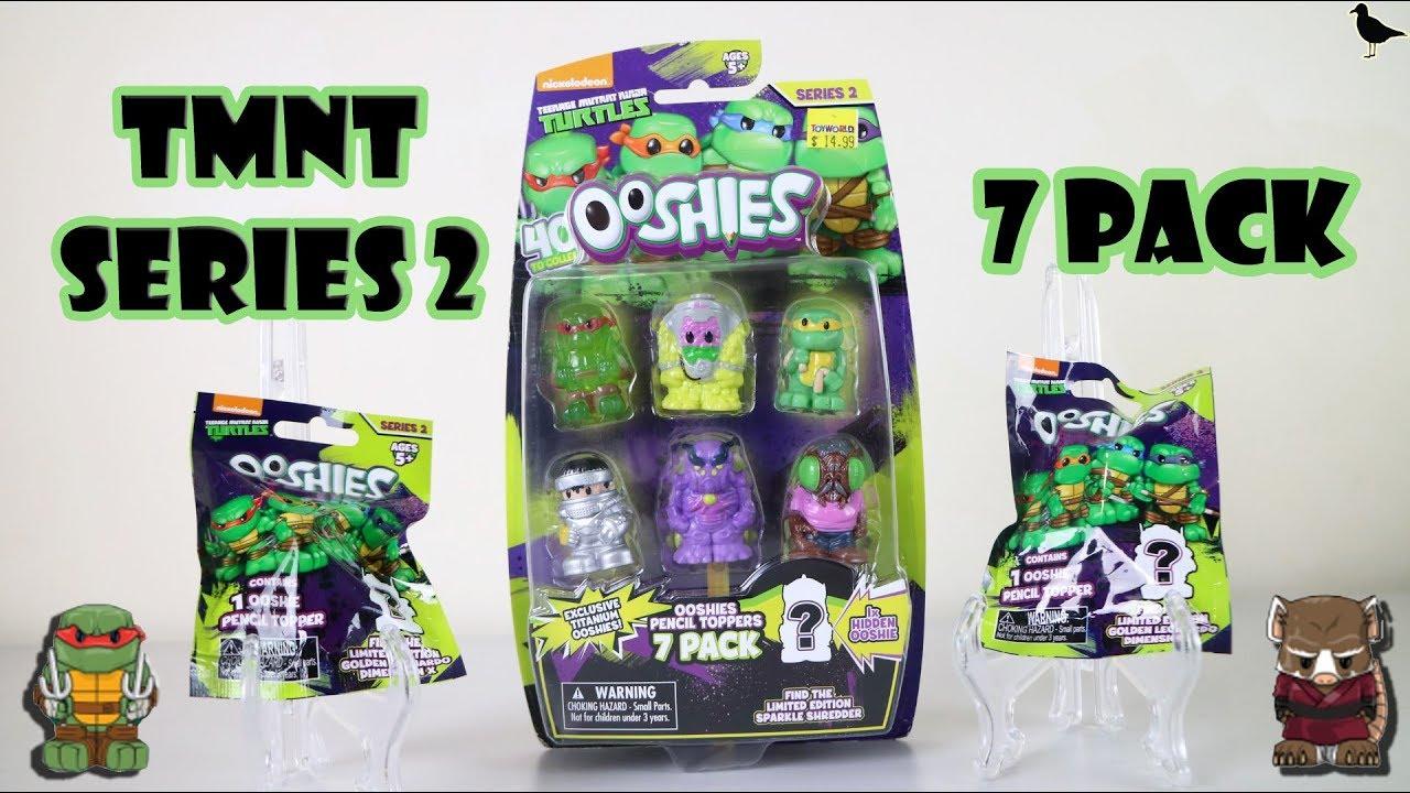 Series 2 Ninja Turtles Ooshies 7 Pack Opening Blind Bags