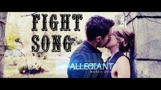 Allegiant Cast || Tris + Four // Fight Song