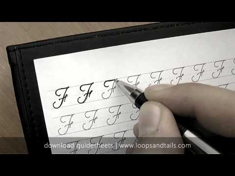 Learn cursive handwriting - Capital F