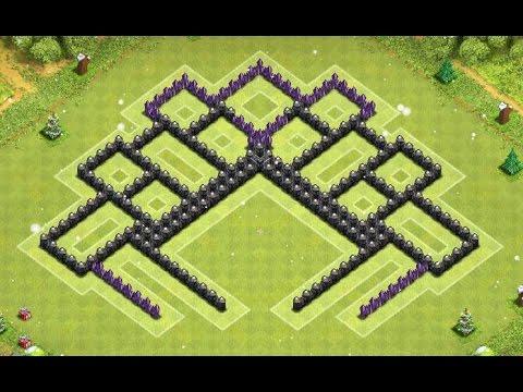 Best th8 southern teaser war trophy base 4 mortars clash of clans