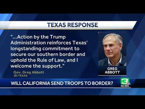 California National Guard reviewing Trump's US-Mexico order, awaits details