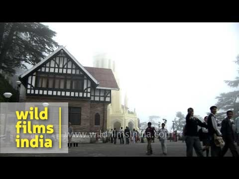 View of Christ Church from Mall road, Shimla