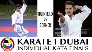 Damian QUINTERO vs Laurenz BERNER. Karate1 Dubai 2016. Final Individual Male Kata