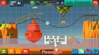 [Build a bridge] Hướng dẫn phá đảo game android Xây cầu  - Qua màn 20 đạt 3 sao
