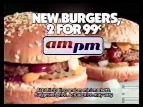 AM PM Mini Market New Burgers Commercial 1997