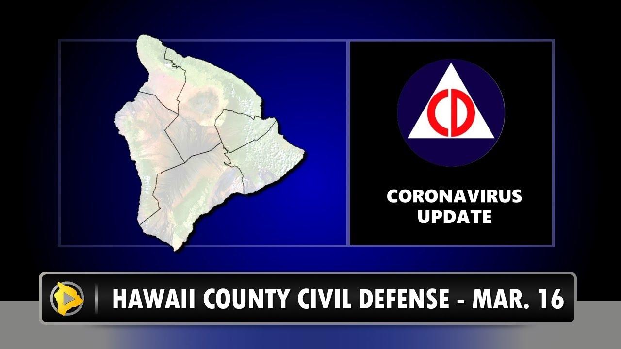 VIDEO: Hawaii Island COVID-19 Updates, March 16