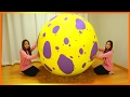 DIY Giant Surprise Egg Openging Super Giant Egg!! How to make Giant Egg  RiaRua