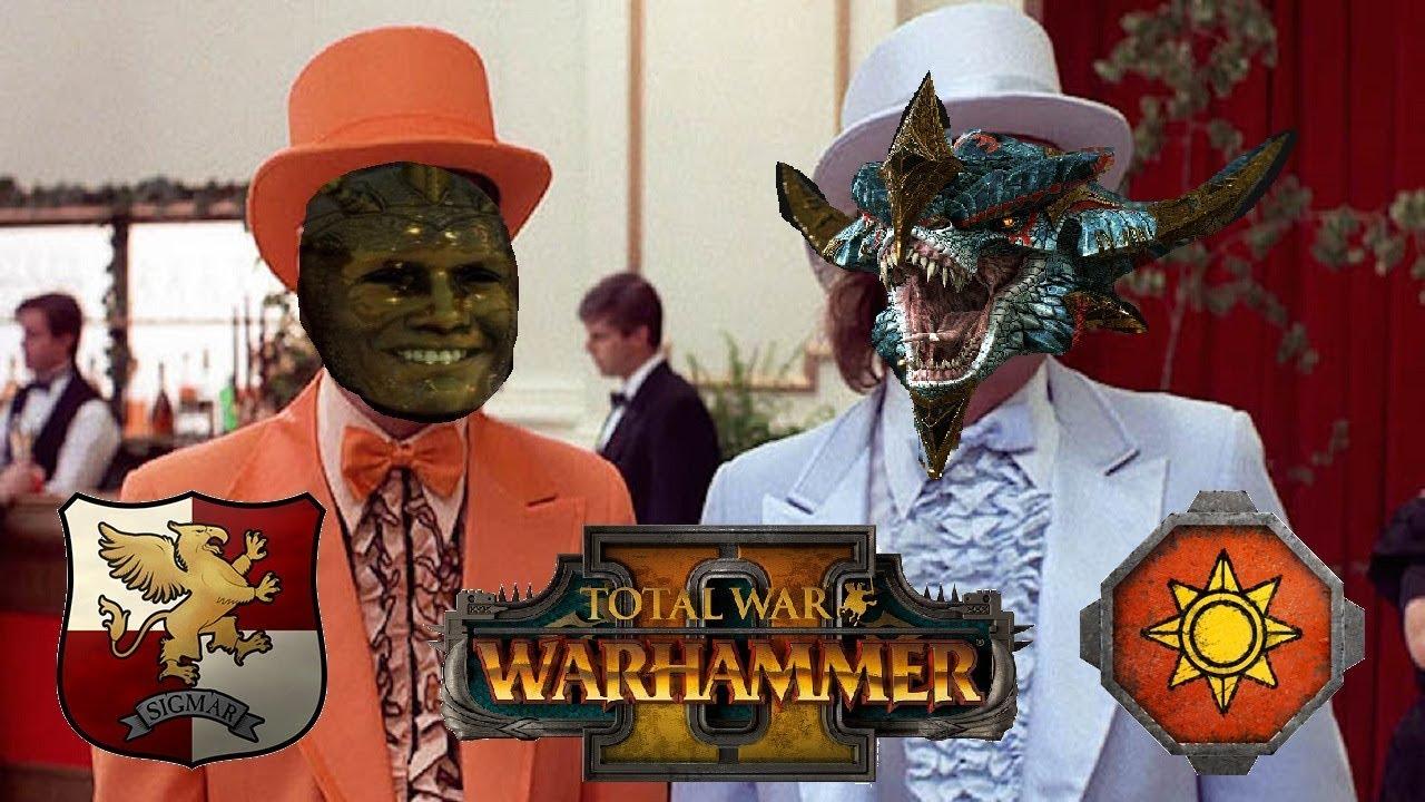 Empire Vs Lizardmen The Great Meme War Total War Warhammer 2