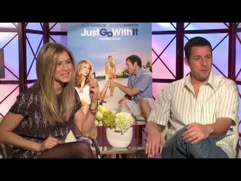 Just Go With It Interview With Jennifer Aniston And Adam Sandler