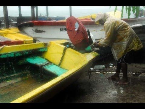 Hurricane SANDY Havoc: JAMAICA - Bridges Roads Homes Collapse, Floods, Airports; now USA ..10.25.12