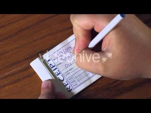 receipt book stock footage