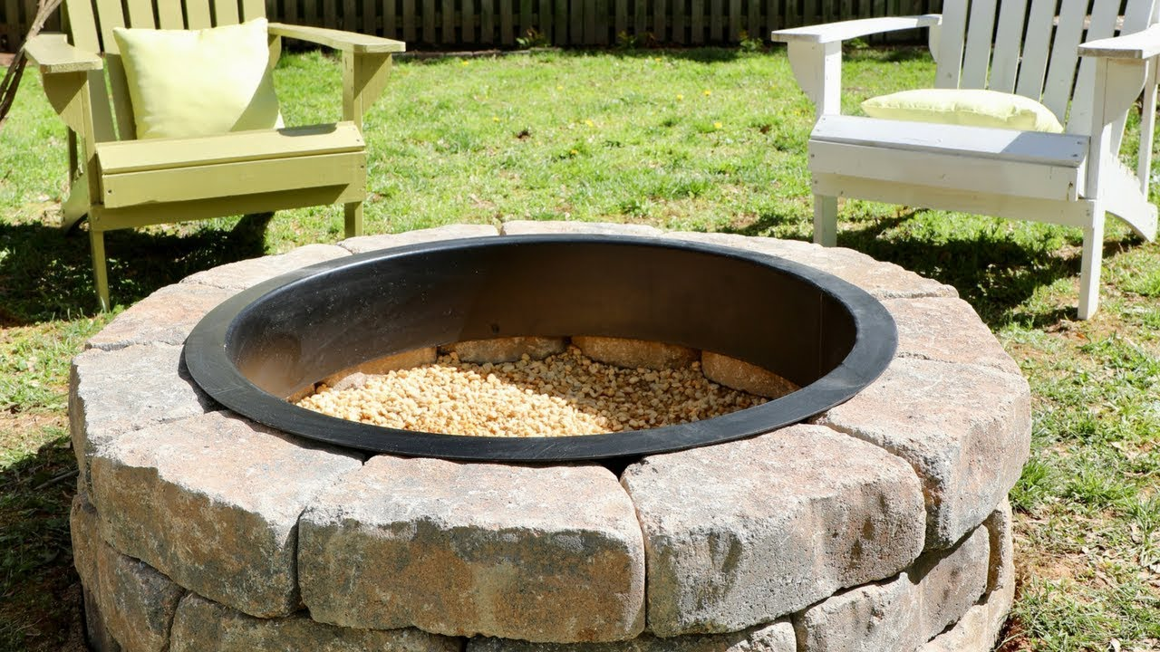 How to Build a DIY Fire Pit in Your Backyard - Thrift ...