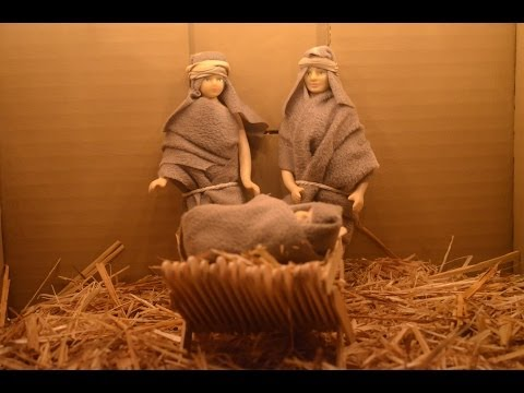 how to make nativity scene from cardboard