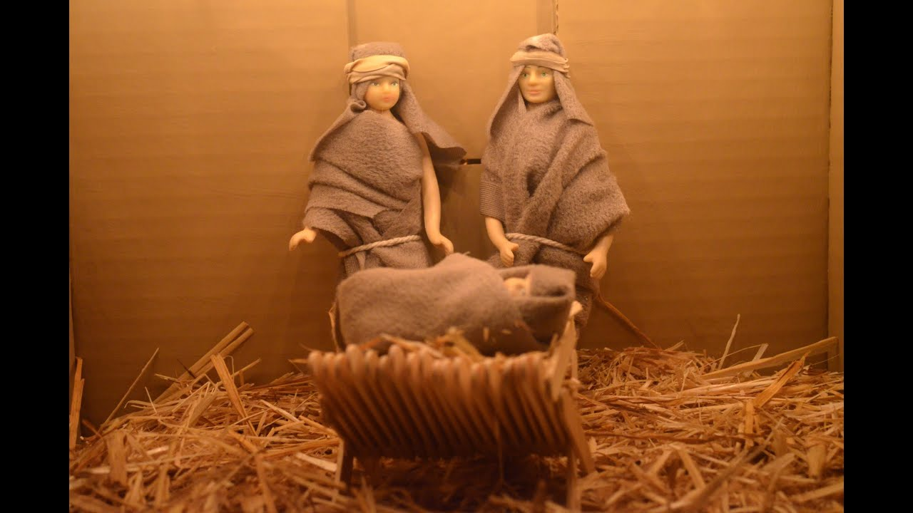 Homemade nativity scene easy beautiful youtube solutioingenieria Gallery