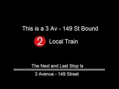 R142 - 2 Train to 3 Avenue - 149 St Announcements  [E 180 St to 3 Avenue - 149 ST]