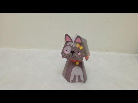 3D ORIGAMI CAT, KIDS ORIGAMI CAT, HAPPY PAPER CAT