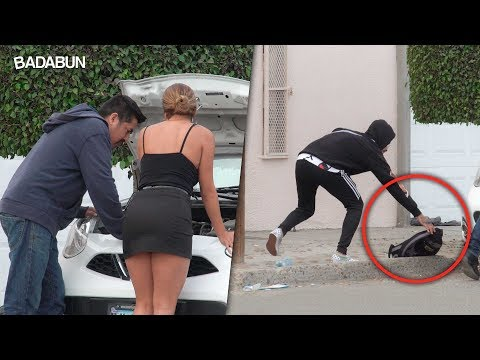 VIDEO: Kim y Malcriado robando Pizza a desconocidos